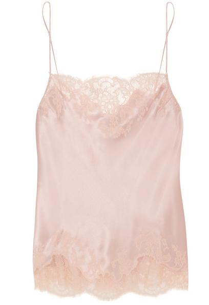 Carine Gilson Lace Silk Camisole