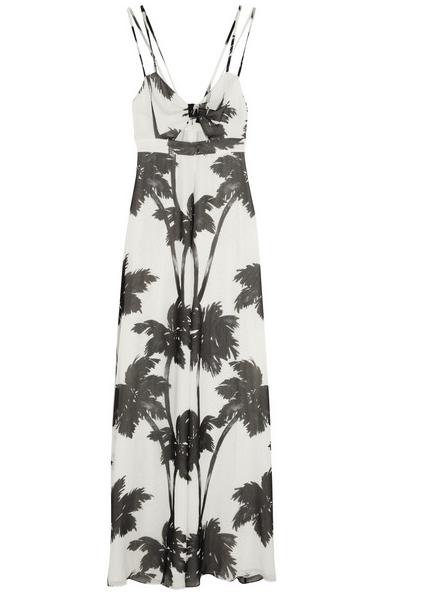 Moschino Cheap & Chic Silk Georgette Maxi Dress $497.50