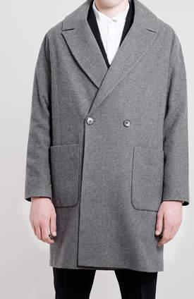 Topman Grey Drop Shoulder Coat $300