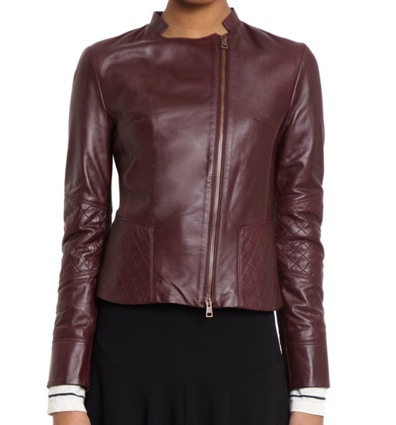 Barney's Quilted Leather Jacket $419