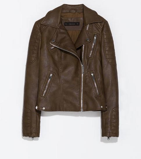 Zara Leather Effect Biker Jacket $89.99