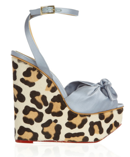 Charlotte Olympia Satin & Pony Wedge Sandals $1,110
