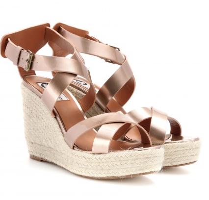 Lanvin Straw Wedge Sandals $695