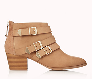 Forever 21 Buckled Booties $39.80