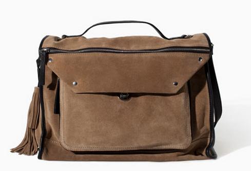 Zara Suede City Bag $129