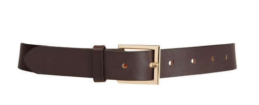 Barney's Chocolate Brown Leather Belt $135