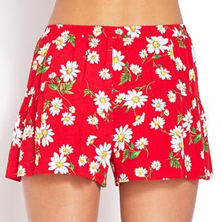Forever 21 Daisy Print Shorts $15.80