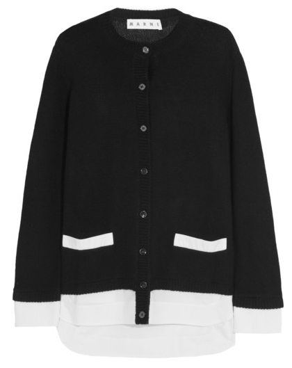 Marni Cotton Trimmed Cashmere Cardigan $684
