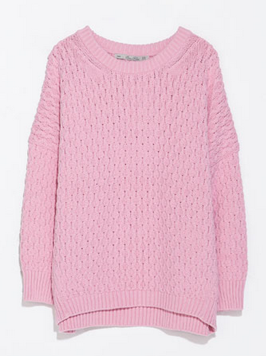 Zara Cable Stitch Oversized Sweater $59.90