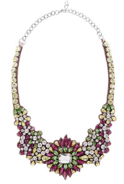 Valentino Crystal Bib Necklace $422.50