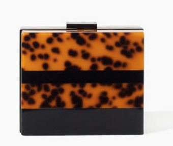 Zara Tortoiseshell Clutch $89.90