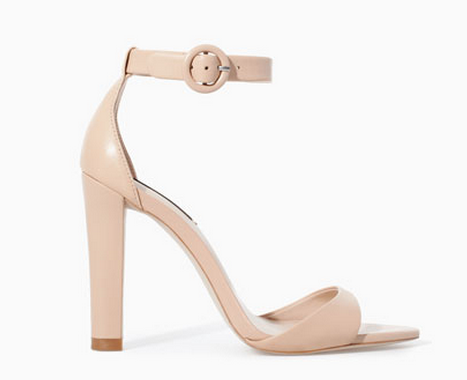 Zara Leather Wide Heel Sandal $59.90