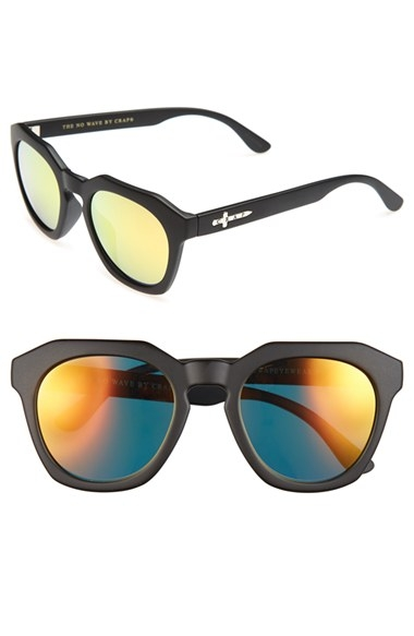 CRAP Eyewear 'No Wave' 47mm Sunglasses Flat Black $56