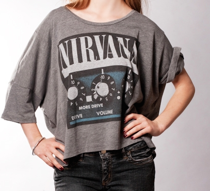 Chaser Nirvana Amp Dolman Tee in Grey $43.40