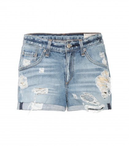 The Boyfriend distressed denim shorts $311