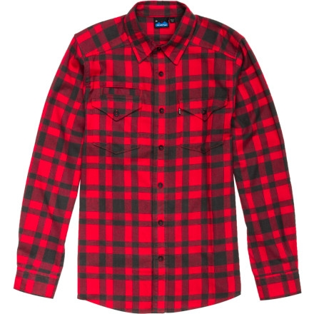 Kavu Lorenzo Shirt - Long-Sleeve - Men's Red $41.21