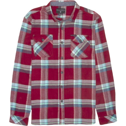 Billabong Wallingsford Flannel Shirt - Long-Sleeve - Men's Red $41.62
