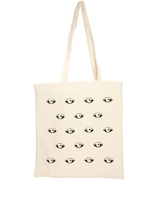 Reclaimed Vintage Eyes Canvas Tote Bag $9.53