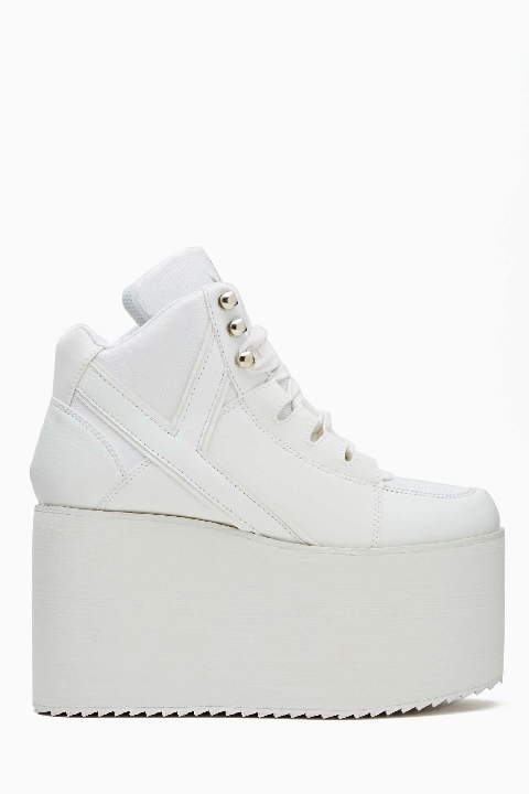 Alliance Platform Sneaker - White Lyndley Trends Sally Lyndley Fashion Stylist