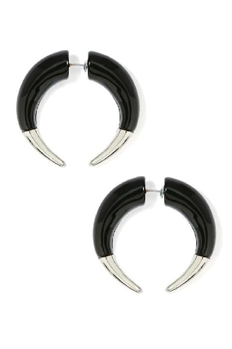 Nasty gal Lock Horns Tunnel Earrings Lyndley Trends Sally Lyndley Fashion Stylist