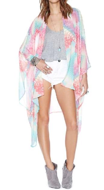 Nasty Gal Rainbow Flow Kimono Lyndley Trends Sally Lyndley Fashion Stylist