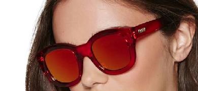 NG X Le Specs Runaways Shades - Red Lyndley Trends Sally Lyndley Fashion Stylist