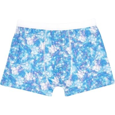 River Island Blue Tie Print Boxer Shorts Shop With Sally Sally Lyndley Fashion Stylist
