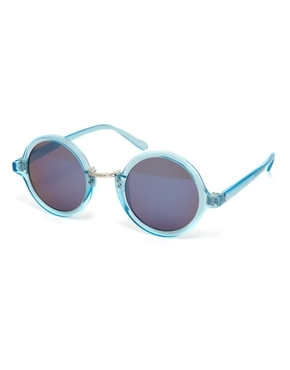 ASOS Exaggerated Metal Bridge Round Sunglasses Shop With Sally Sally Lyndley Fashion Stylist