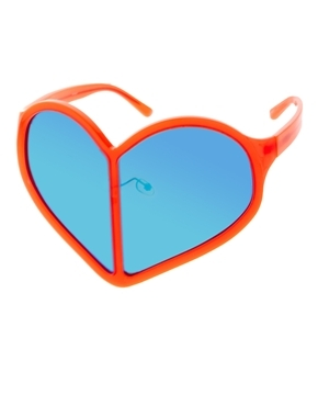 Linda Farrow Mirrored Heart Sunglasses Shop With Sally Sally Lyndley Fashion Stylist
