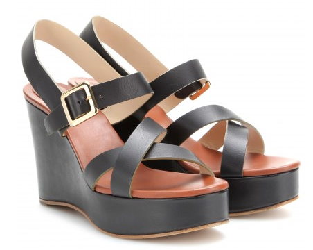 CHLOÉ Leather platform wedge sandals Shop With Sally Sally Lyndley Fashion Stylist