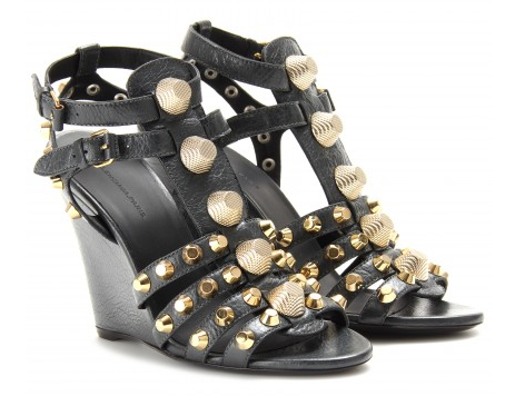BALENCIAGA LEATHER STUDDED WEDGES Shop With Sally Sally Lyndley Fashion Stylist