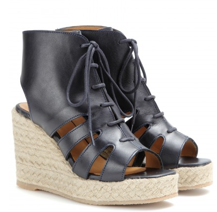 A.P.C. Leather espadrille wedge sandals Shop With Sally Sally Lyndley Fashion Stylist