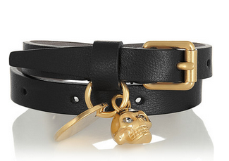 ALEXANDER MCQUEEN Gold-tone, leather and Swarovski crystal bracelet Shop With Sally Sally Lyndley Fashion Stylist