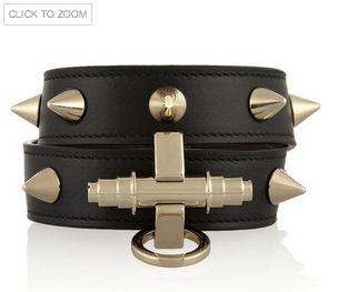 GIVENCHY Obsedia bracelet in black leather Shop With Sally Sally Lyndley Fashion Stylist