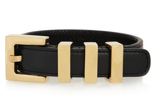 SAINT LAURENT Buckled leather bracelet Shop With Sally Sally Lyndley Fashion Stylist
