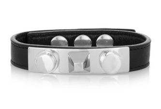 SAINT LAURENT Studded leather bracelet Shop With Sally Sally Lyndley Fashion Stylist