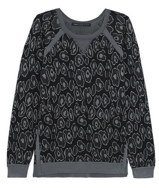MARC BY MARC JACOBS Cassidy leopard-jacquard sweatshirt Shop With Sally Sally Lyndley Fashion Stylist