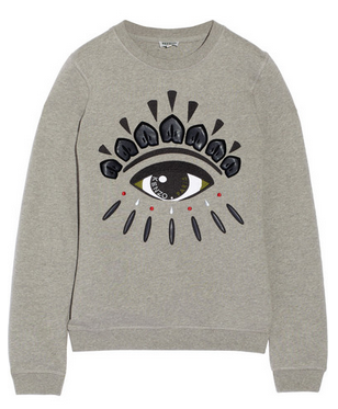 KENZO Embellished cotton-fleece sweatshirt Shop With Sally Sally Lyndley Fashion Stylist