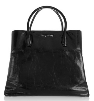 MIU MIU Leather tote Shop With Sally Sally Lyndley Fashion Stylist