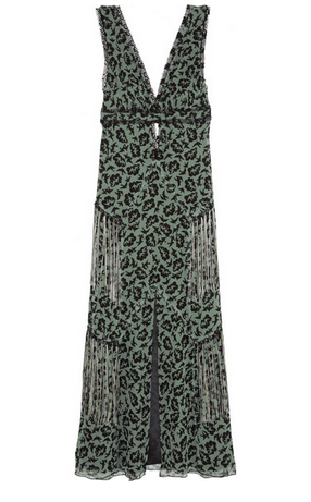 ANNA SUI Printed silk-chiffon maxi dress Shop With Sally Sally Lyndley Fashion Stylist