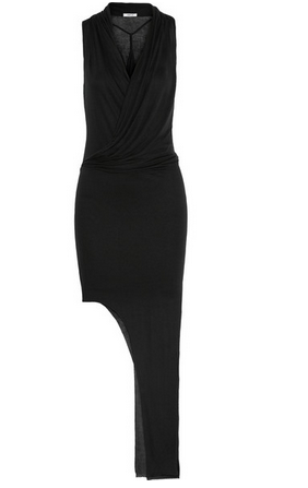 HELMUT LANG Asymmetric lightweight jersey maxi dress Shop With Sally Sally Lyndley Fashion Stylist