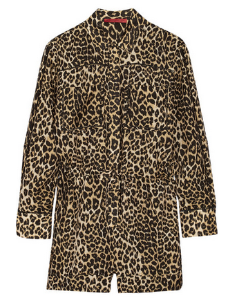 TAMARA MELLON Cutout leopard-print cotton and silk-blend playsuit Shop With Sally Sally Lyndley Fashion Stylist