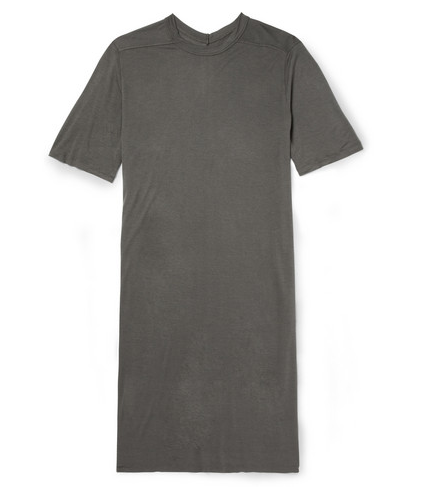 RICK OWENS  OVERSIZED LONG-LENGTH JERSEY T-SHIRT Shop With Sally Sally Lyndley Fashion Stylist