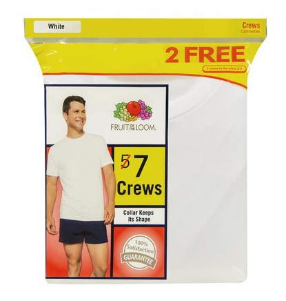 Fruit of the Loom® Men's 5+2 Bonus Pack White Crewneck T-Shirts Shop With Sally Sally Lyndley Fashion Stylist