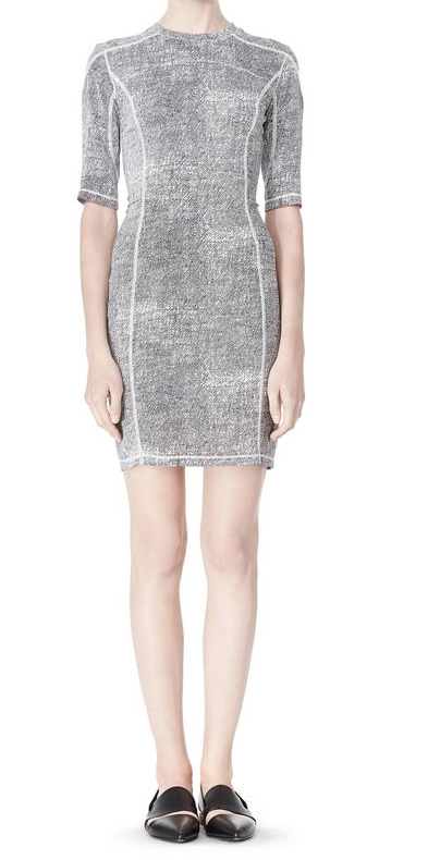 Alexander Wang GEORGETTE SHORT SLEEVE SCUBA DRESS Shop With Sally Sally Lyndley Fashion Stylist
