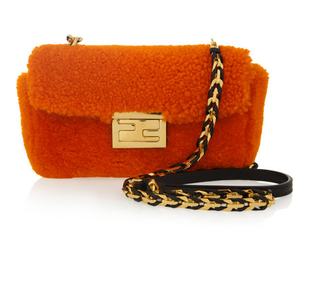 FENDI Be Baguette Mini shearling bag Shop With Sally Sally Lyndley Fashion Stylist