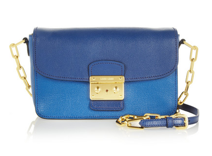 MIU MIU Bandoliera Madras two-tone leather shoulder bag Shop With Sally Sally Lyndley Fashion Stylist