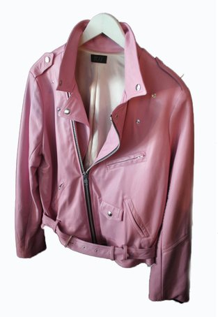 BESS BIKER PINK LEATHER JACKET Shop With Sally Sally Lyndley Fashion Stylist