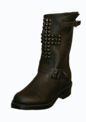 BESS NYC CROSS BLACK STUD BIKER BOOT Shop With Sally Sally Lyndley Fashion Stylist