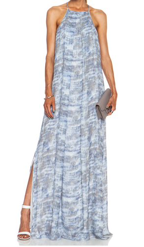 10 CROSBY DEREK LAM Maxi Silk Dress in Slate Combo Shop With Sally Sally Lyndley Fashion Stylist